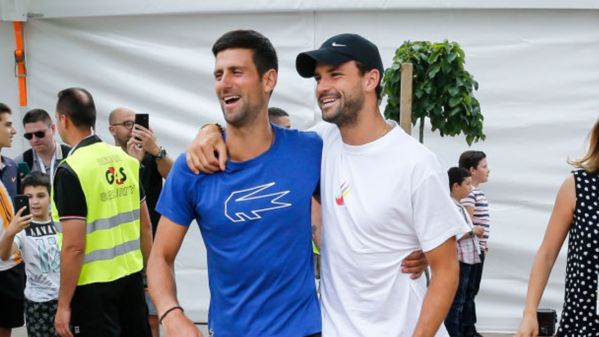 Grigor Dimitrov Probably Came Sick Who Knows From Where Novak Djokovic S Father Defends Son Tennis News India Tv