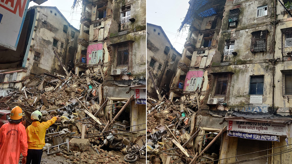 Breaking Portion Of Building Collapses In Mumbai S Cst Area People Feared Buried Under Debris India News India Tv