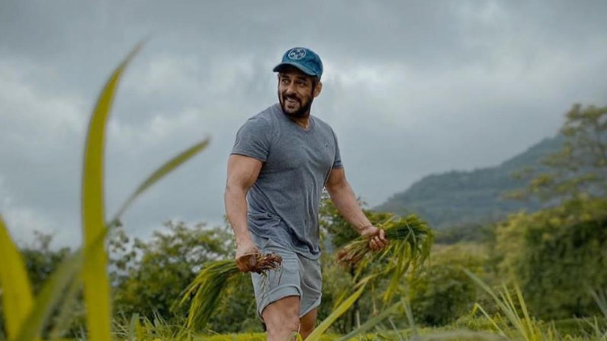 Salman Khan Flaunts Big Smile As He Enjoys At His Panvel Farmhouse Says Jai Jawan Jai Kissan Celebrities News India Tv