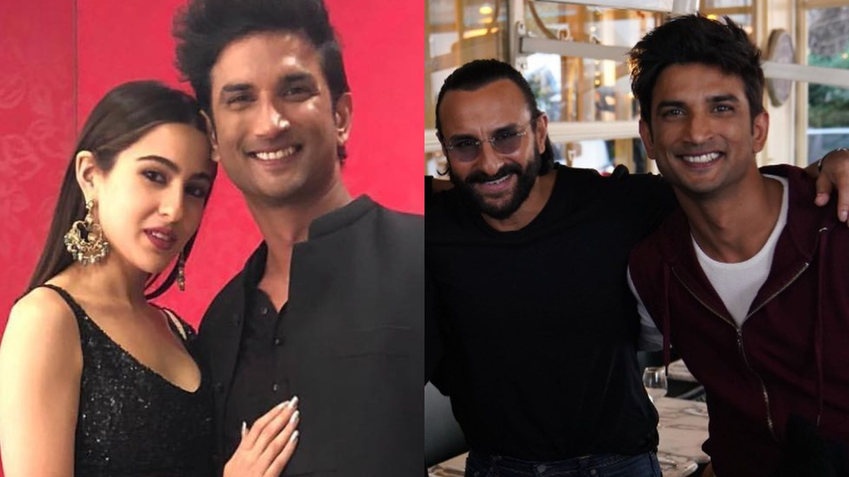 Sara Ali Khan shares Sushant Singh Rajput and father Saif Ali Khan's BTS  photos from Dil Bechara sets | Celebrities News – India TV