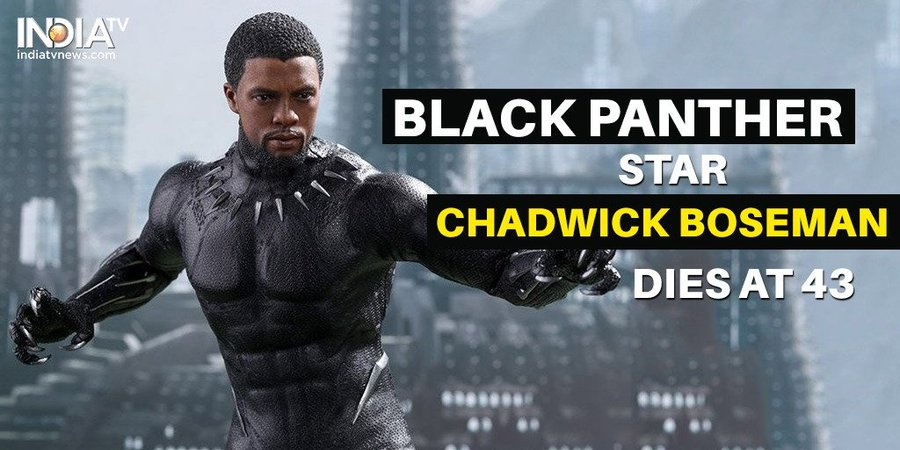 Black Panther Actor Chadwick Boseman Dies Brie Larson Chris Evans Others Mourn The Loss Hollywood News India Tv