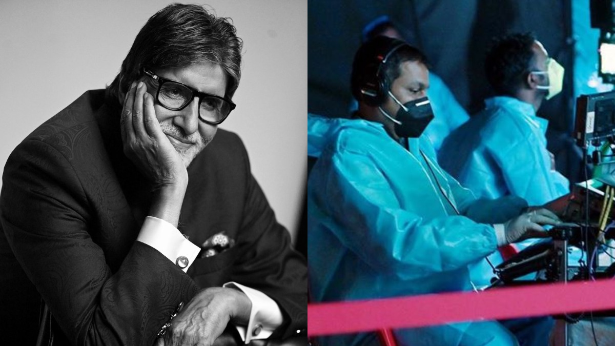 Amitabh Bachchan begins shooting for KBC 12, shares picture 'in a sea of  blue PPE' | Celebrities News – India TV
