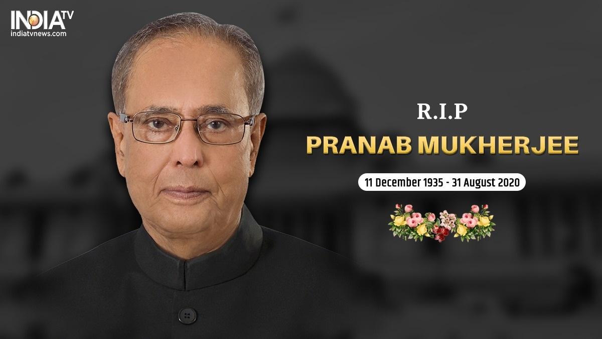 Pranab Mukherjee Death Live Updates Twitter Political Reactions Modi Amit Shah Sonia Gandhi Rahul Congress India News India Tv