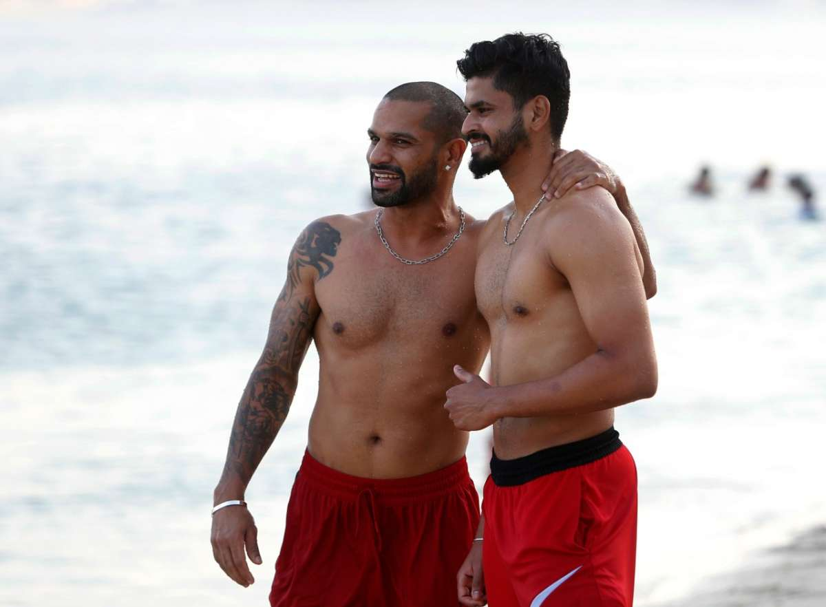 IPL 2020 Delhi Capitals team took a break players enjoyed a lot on the beach see pics