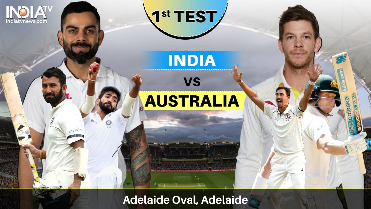 India Vs Australia 1st Test Day 2 Watch Ind Vs Aus Pink Ball Test Online On Sonyliv Cricket News India Tv