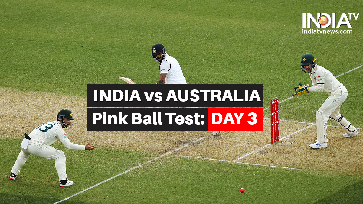 Highlights India Vs Australia 1st Test Day 3 Updates From Pink Ball Test In Adelaide Cricket News India Tv