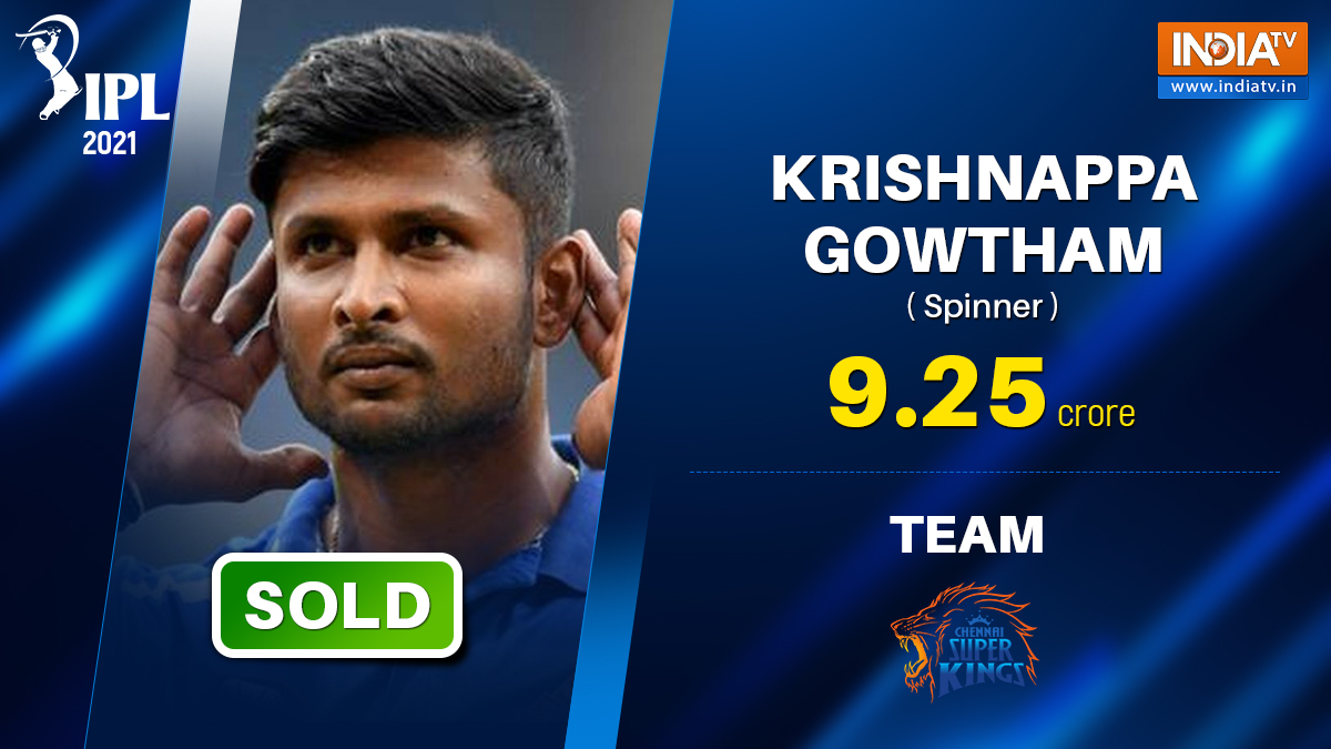 Image result for IPL 2021 Auction: How Krishnappa Gowtham becomes most expensive uncapped Indian player Sold for 9.25 Cr