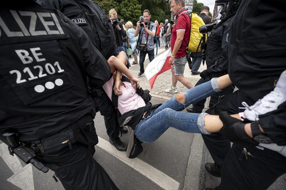 berlin protesters decry coronavirus measures; 600 detained | world news –  india tv