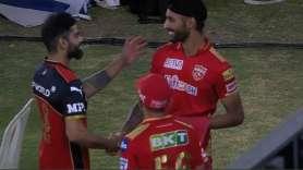 Virat Kohli and Harpreet Brar in IPL 2021, IPL 2021 RCB vs PBKS