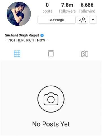 Sushant Singh Rajput deleted all Instagram posts after release of ...