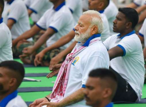 PM Modi leads fifth International Yoga Day 2019  celebrations in Ranchi