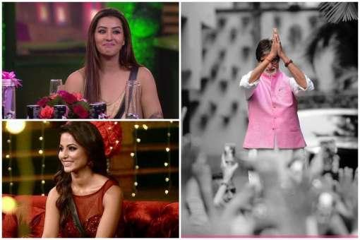 Amitabh Bachchan, Hina Khan, Shilpa Shinde, Bigg Boss 11