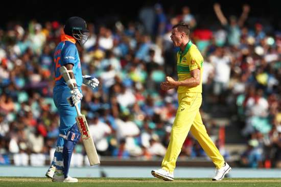 India Tv - Jason Beherendorff is elated after dismissing Dhawan.