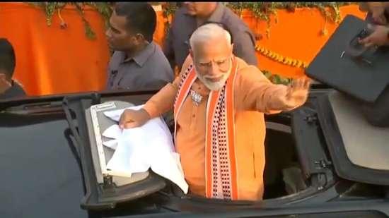 India Tv - Saffron tide engulfs city as PM's thunderous roadshow continues