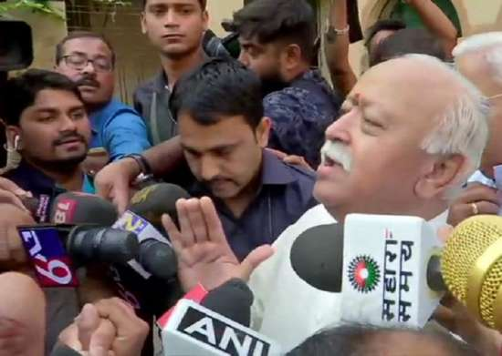 India Tv - Mohan Bhagwat casts his vote