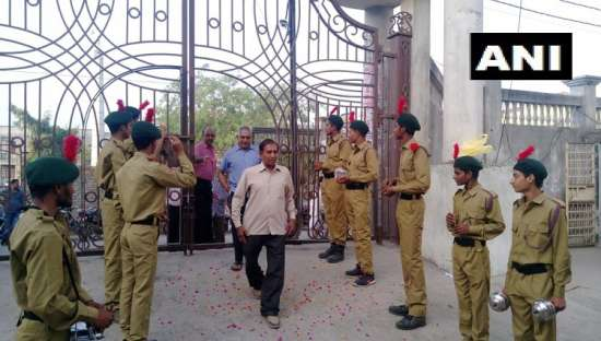 India Tv - Flower petals showered at voters in UP's Baghpat
