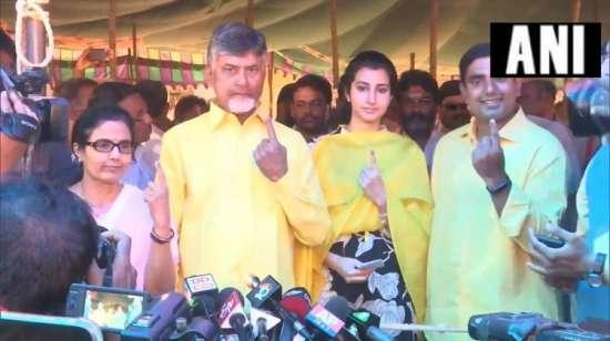 India Tv - Andhra Pradesh CM casts his vote