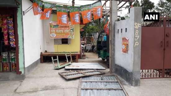 India Tv - BJP booths vandalised in West Bengal