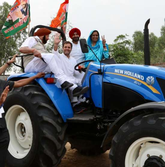 India Tv - Punjab: Rahul Gandhi drove tractor in Ludhiana earlier today