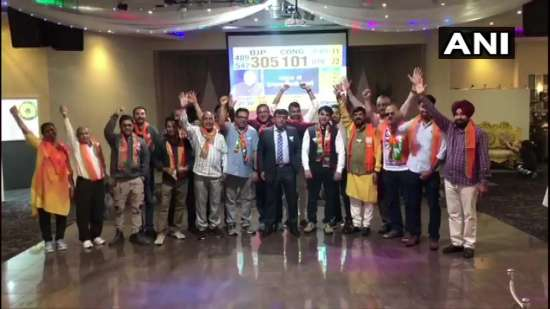 India Tv - BJP supporters celebrate