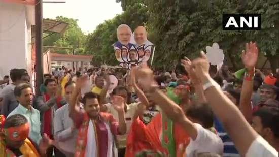 India Tv - Celebrations atBJP office in Patna