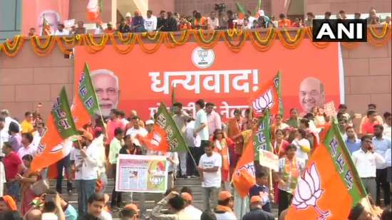 India Tv - Celebrations at BJP headquarters