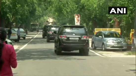 India Tv - Sonia Gandhi leaves from Rahul Gandhi's residence