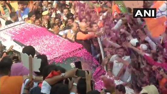 India Tv - Amit Shah arrives at BJP headquarters