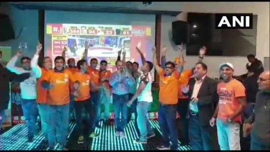 India Tv - BJP supporters celebrate in Perth