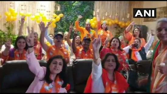 India Tv - BJP supporters celebrate in Dubai