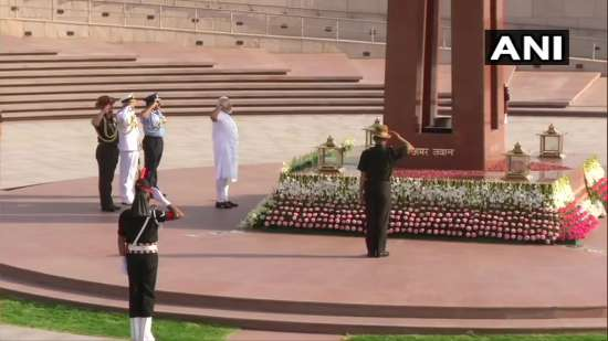 India Tv - PM Modi pays tribute to martyrs