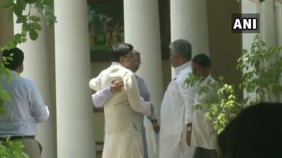 India Tv - BJP leaders at Amit Shah's residence in Delhi