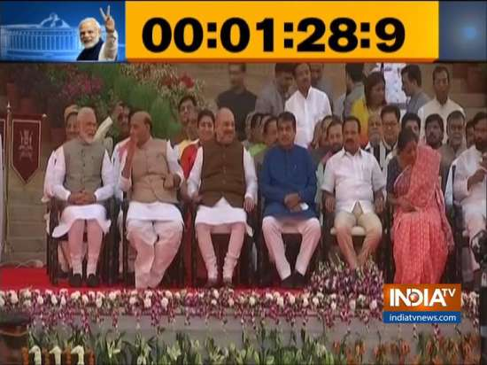 India Tv - Modi swearing-in ceremony Live: PM arrives at Rashtrapati Bhawan