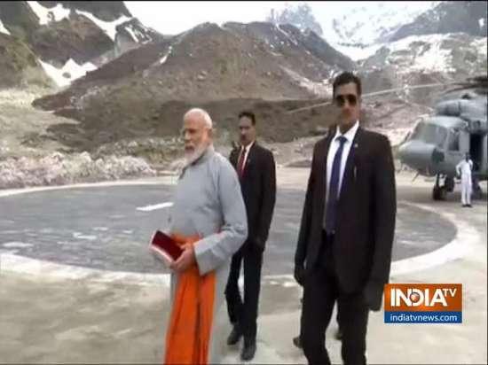 India Tv - PM Narendra Modi arrives in Kedarnath