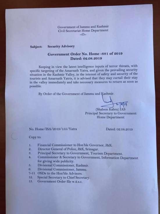 India Tv - Amarnath Yatra directive