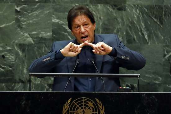 India Tv - Pakistan PM during his speech at the UN