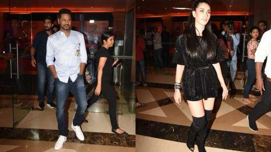 India Tv - Prabhudeva, Wareena Hussain arrive in style