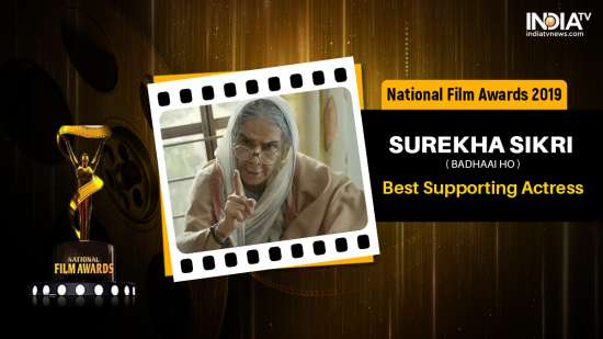 India Tv - Surekha Sikri wins Best Supporting Actress awards