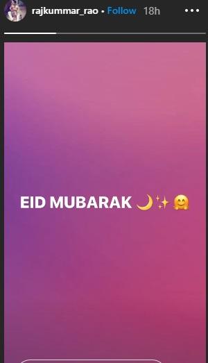 India Tv - Rajkummar Rao sends his Eid wishes