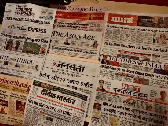 India Tv - How Indian newspapers reacted to India China borde