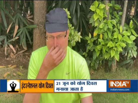 India Tv - Rajat Sharma shares importance of yoga on Internat