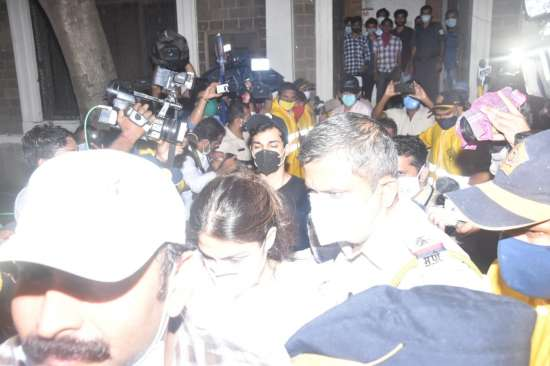 India Tv - Rhea Chakraborty and brother leave ED office