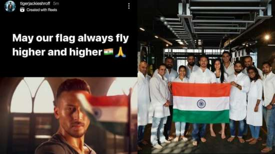 India Tv - Tiger Shroff proudly hold the National Flag