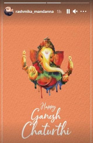 India Tv - Rashmika Mandanna wishes Ganesh Chaturthi