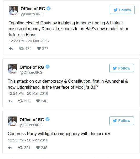India Tv - Rahul Tweets