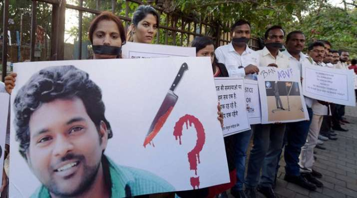 Vemula had been suspended by university a few days before