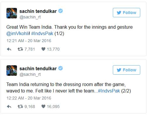 India Tv - Sachin Tweet