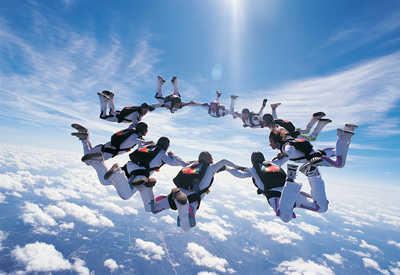 India Tv - sky diving