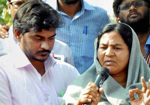 Rohith Vemula's mother, brother to embrace Buddhism today