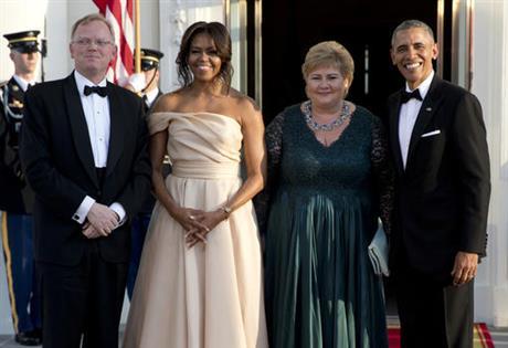 President Barack Obama ,Michelle Obama ,Erna Solberg,Sindre
